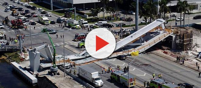 Footbridge over busy highway collapses in Florida and many killed