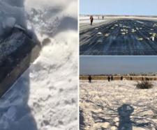 Goana după AUR! La -24 °C rușii caută resturile comorii căzute din avion - Foto: http://siberiantimes.com