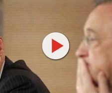 Zidane com o presidente Florentino Pérez