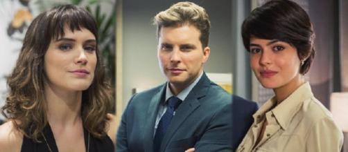 Adriana, Patrick e Clara em ''O Outro Lado do Paraíso''
