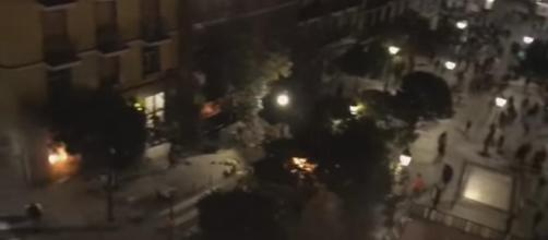 Duros enfrentamientos en Madrid