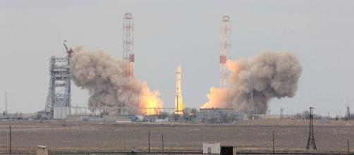 Launch of ExoMars 2016 from the Baikonur Cosmodrome (Image credit – Dedead, Wikimedia Commons)
