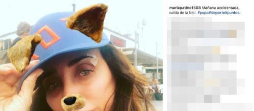 María Patiño sufre un accidente mientras practicaba deporte.