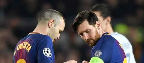 Messi e Iniesta são dois dos capitães do Barça