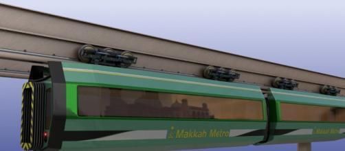 monometro concepto de tranvía al revés