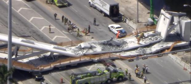 Picture of teh collapsed bridge. Photo- (Image credit ABC news-Youtube)