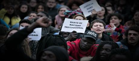 Manifestación por la muerte del mantero senegales