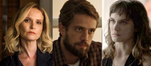 Fabiana, Renato e Clara em 'O Outro Lado do Paraíso'
