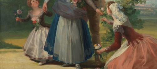 Las floreras o La Primavera de Francisco de Goya. Fuente: elblogdelatabla.com