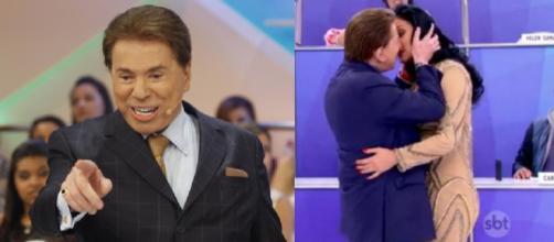 Silvio Santos quer mudar de ramo para poder beijar muito na boca.