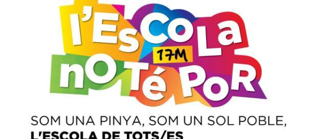 17 de marzo - manifestación por el modelo de escuela catalana