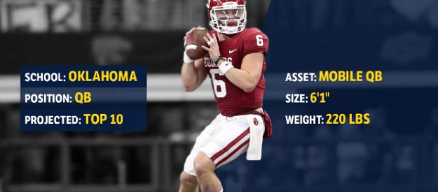 Can Baker Mayfield get along in the NFL to be a great quarterback? [image source: FantasyPros/YouTube screenshot]