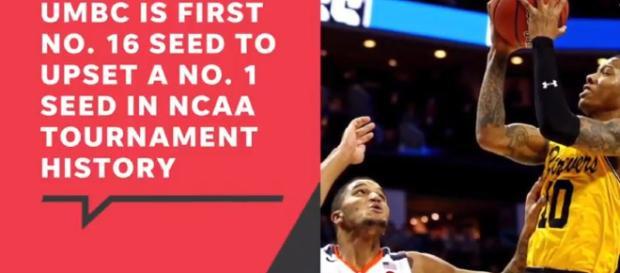 UMBC upset in NCAA tournament - Iage credit Sports Pulse| USA TODAY | YouTube