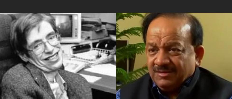 Media Mocks Minister Harsh Vardhan For His Remarks On Hawking And Vedas