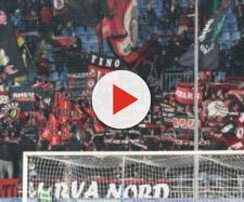Nella foto della Lega B, i tifosi del Foggia presenti nella trasferta di Novara