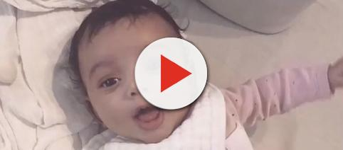 Kim Kardashian shares close up of baby Chicago West [Image: Access/YouTube screenshot]