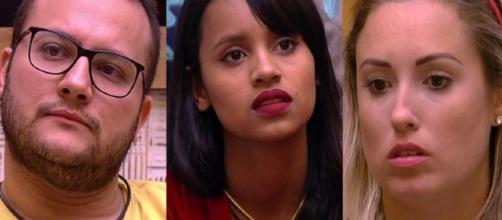 Diego, Gleici e Jéssica estão no paredão