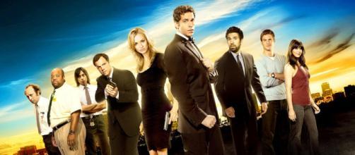 Una fotografía del elenco de Chuck.