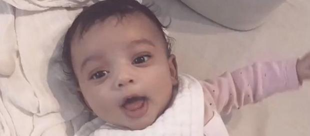 Kim Kardashian shares close up of baby Chicago West [Image: Access/YouTube screenshot]