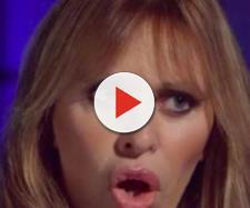 Alessandra Mussolini durante l'intervista della trasmissione 'Belve'