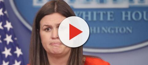 Jim Carrey creates a rather nasty looking portrait of Sarah Huckabee Sanders. - thegrio.com
