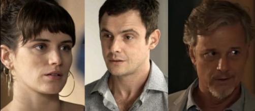 Gael, Clara e Renan em 'O Outro Lado do Paraíso'