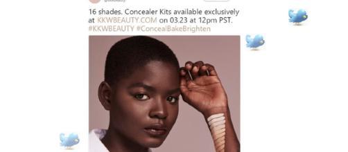 Kim Kardashian concealers epic fail advert mocked on Twtter - Image - KKW BEAUTY   Twitter