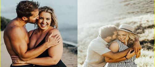 Marido e mulher felizes independentemente de seus corpos
