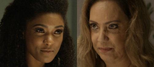 Nádia pede perdão para Raquel e as duas se abraçam emocionadas em O Outro Lado do Paraíso (Foto: TV Globo)