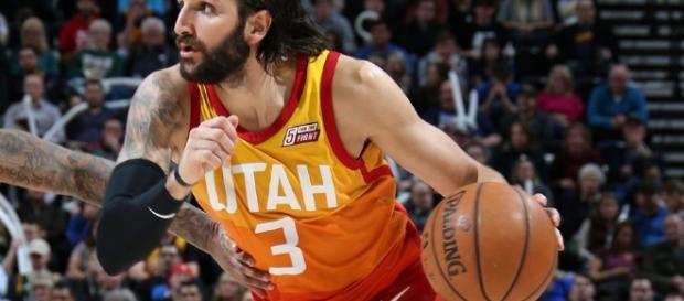 Ricky Rubio con la camiseta de Utah - imagen de Gigantes del Basket