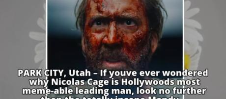 Nicolas Cage is a 'bloody mess' as Red Miller in the upcoming cult-horror flick, 'Mandy' Photo credit: YouTube.