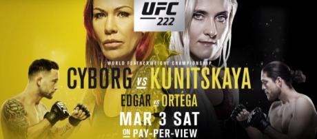 Watch UFC 222 live stream. - [UFC/YouTube screenshot]