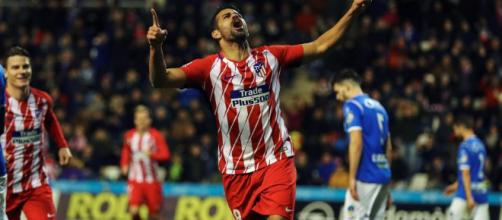 Diego Costa celebrando el gol ante el Sevilla