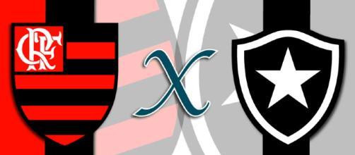 Flamengo x Botafogo ao vivo neste sábado.