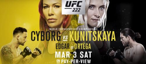 Watch UFC 222 live stream. - [UFC/YouTube screenshot]
