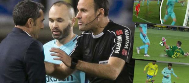 El Barcelona está indignado con Mateu Lahoz