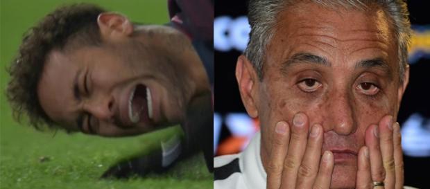 Lesão de Neymar preocupa Tite. Atacante corre o risco de ficar fora da Copa do Mundo