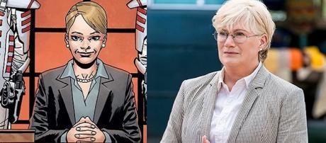 Georgie é uma nova personagem, cuja atriz Jayne Atkinson apareceu até em House of Cards. (foto reprodução).