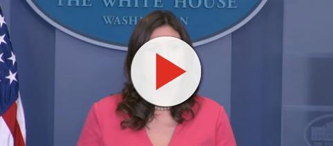 Sarah Huckabee Sanders at White House, via YouTube