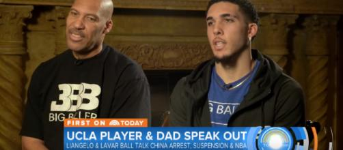 LiAngelo has tattoos, his dad didn't know. [image source: TODAY/YouTube screenshot]
