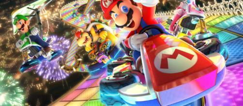 Mario Kart 8 Deluxe un videojuego de carreras.