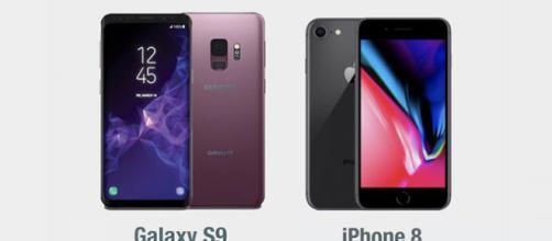 Samsung Galaxy S9 vs Apple iPhone 8