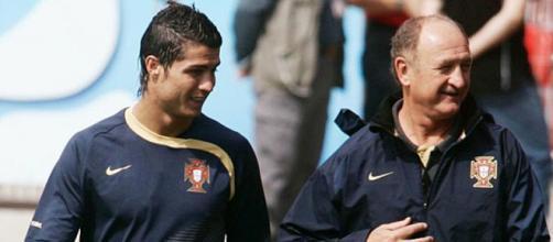 Scolari treinou Cristiano no início da carreira do craque na seleção portuguesa