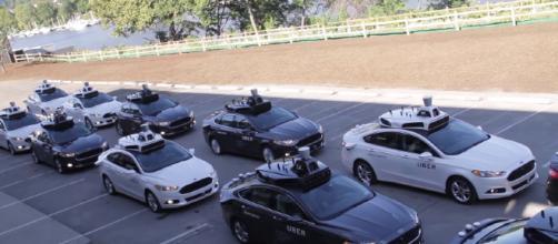 Senate to consider pavements and driverless cars. [image source: TechCrunch/YouTube screenshot]