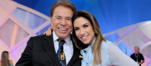 Silvio Santos e Patrícia Abravanel no SBT