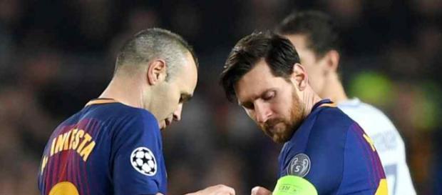 Leo Messi e Andres Iniesta são os capitães do Barça