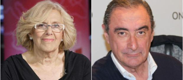 Manuela Carmena y Carlos Herrera
