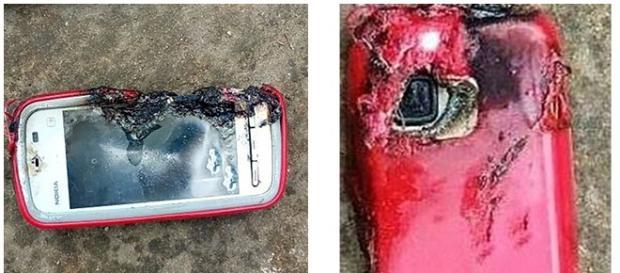Telefone explode durante o carregamento