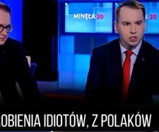 Adam Andruszkiewicz w studiu TVP Info.