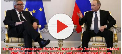 The president of EU commission congratulated Putin Photo-( Image credit-Hotnews today-Youtube.com)